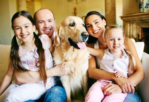 반려견과 가족