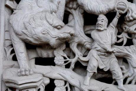 중국의 호랑이 전 세계의 신성한 동물 5가지