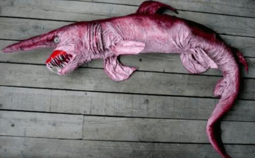 고블린 상어의 턱
